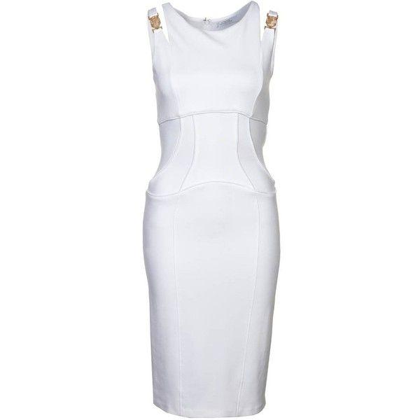 Versace Collection Cocktailkleid festliches Kleid bianco ottico ...