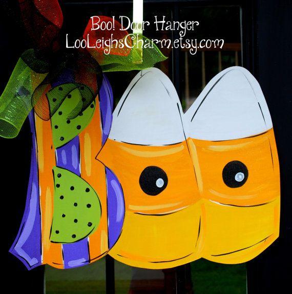 Halloween Door Hanger, Door Hanger, Candy Corn Door ...