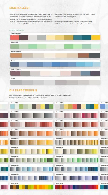 Fassadenfarbe farbpalette  Wuhu, die Farbpalette wurde um über 350 Farben aufgestockt. So ...