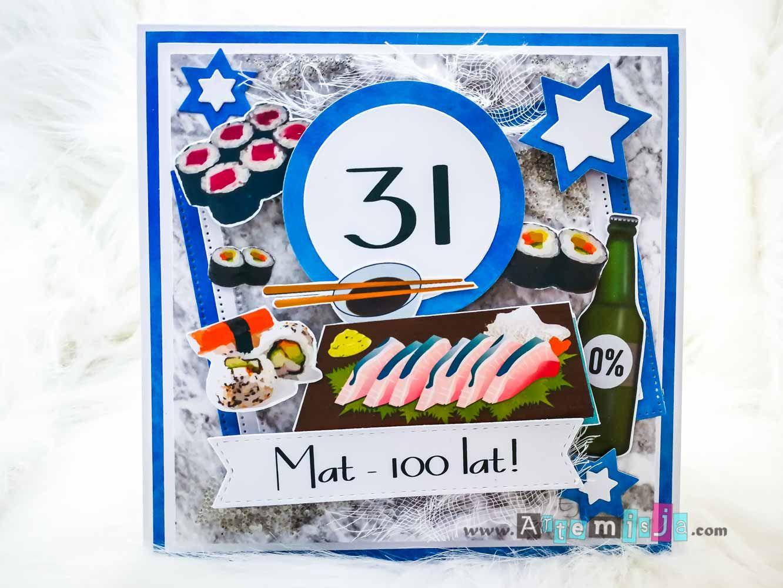 Kartka Na Urodziny Sushi Sushi Birthday Card Artemisja Eunika