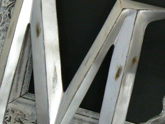 Paris Apartment   Contemp/Chic    Silver Matallic Wall Letter