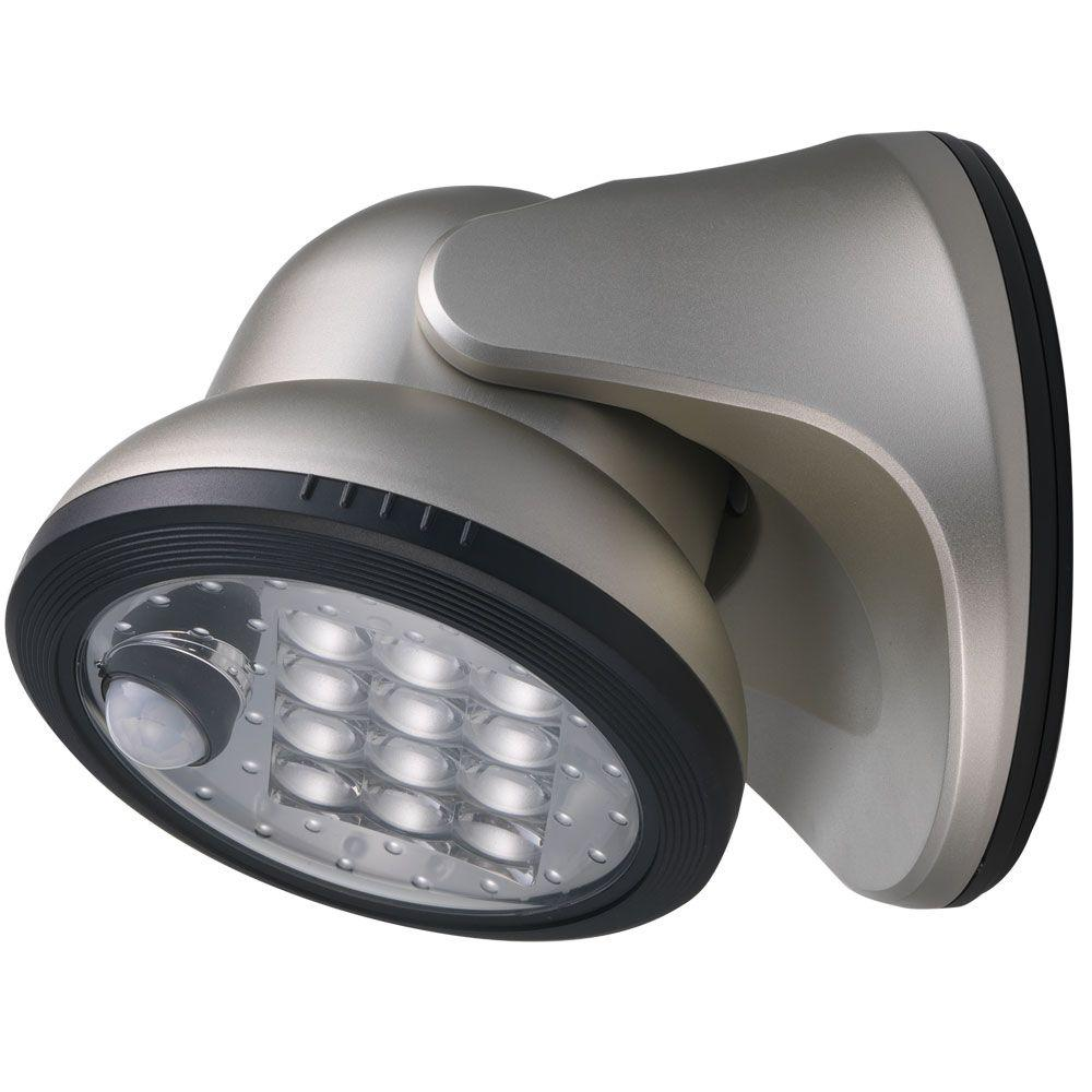 Light It Silver 12 Led Wireless Motion Activated Weatherproof Porch Light 20034 101 Led Porch Light Porch Lighting Led