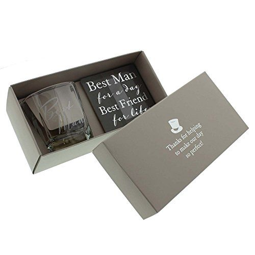 Wedding Gifts For Ushers And Best Man: Amore By Juliana Whisky Glass & Coaster