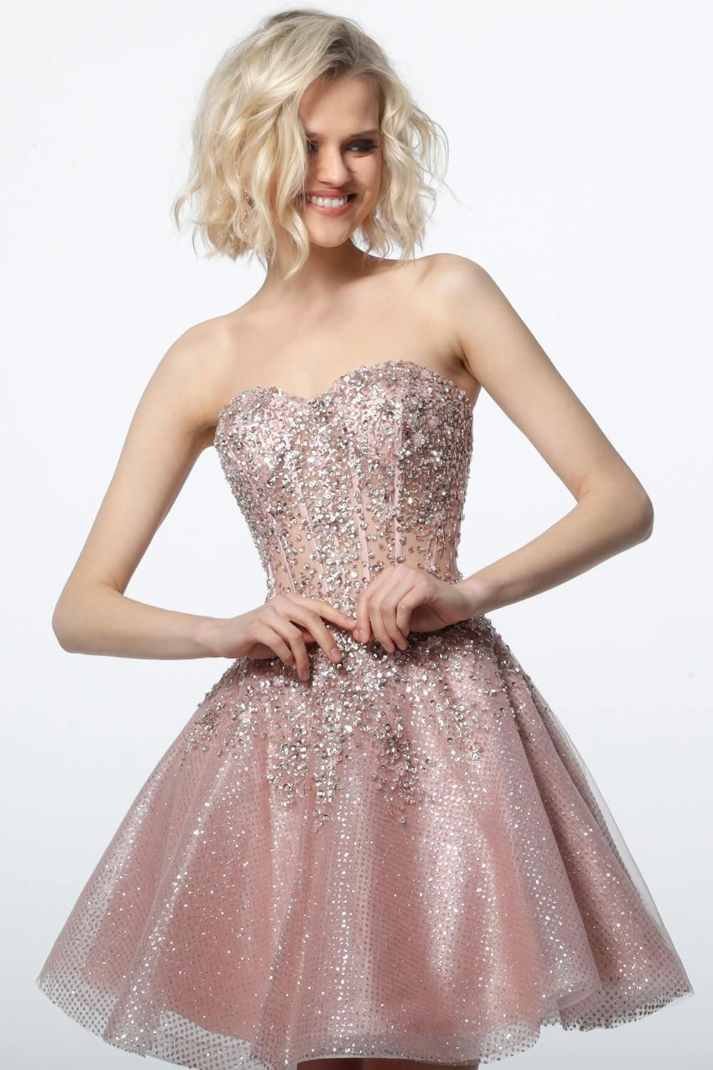 Jovani 3622 Sweetheart Neckline Fit And Flare Homecoming Dress Strapless Dresses Short Prom Dresses Short Strapless Cocktail Dresses [ 1500 x 1000 Pixel ]