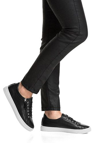 Esprit - Trend sneakers med udvendig lynlås i Esprits Online-Shop