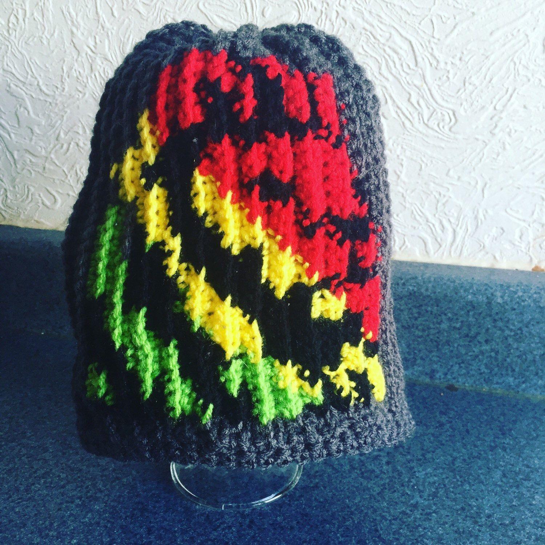 A personal favorite from my Etsy shop https://www.etsy.com/listing/263743948/crochet-lion-hat-rasta-lion-custom-lion