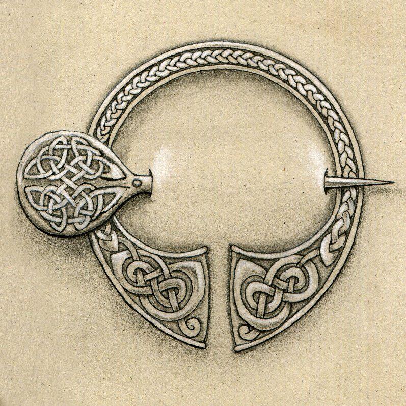 Celtic brooch by mossy-tree.deviantart.com on @deviantART