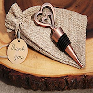 Copper Vintage Two Hearts Become One Bottle Opener (TW4004C)