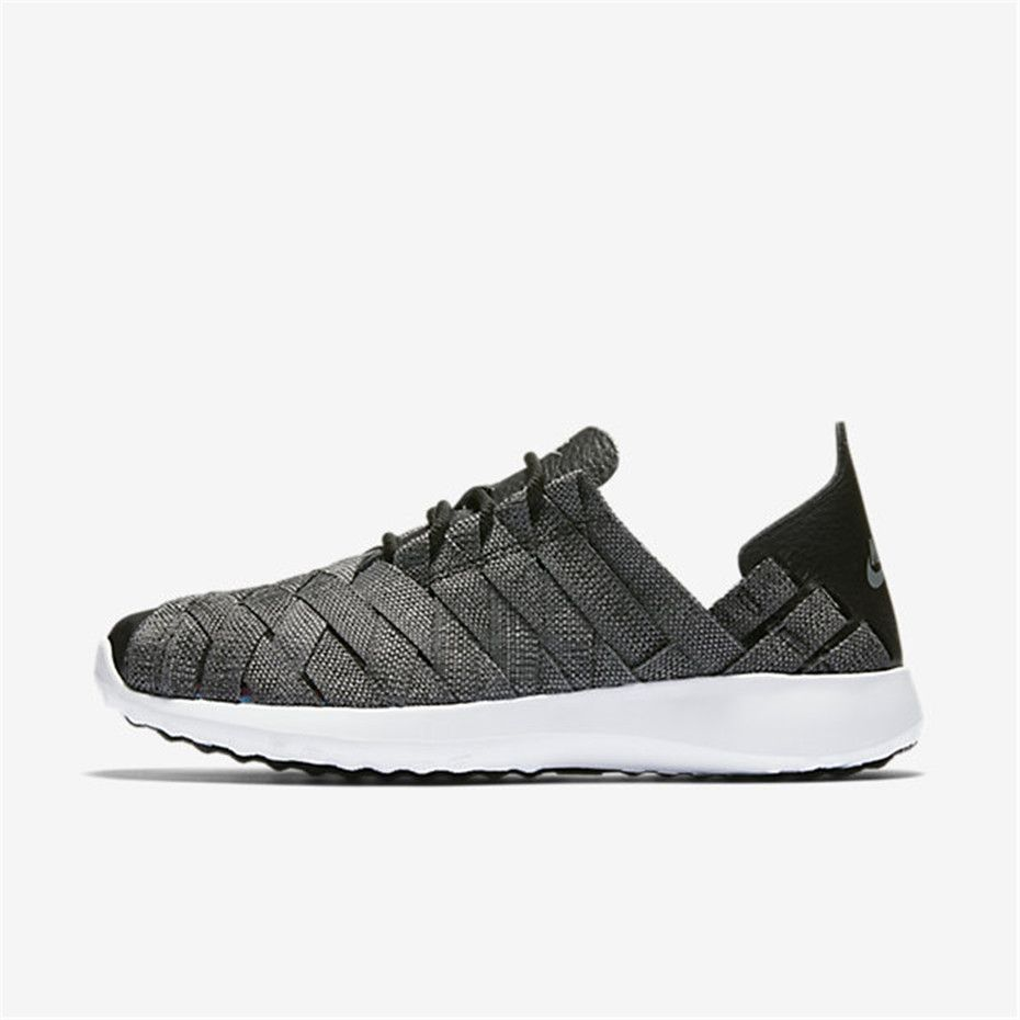 nike roshe run shoes - black/cool grey/white painted