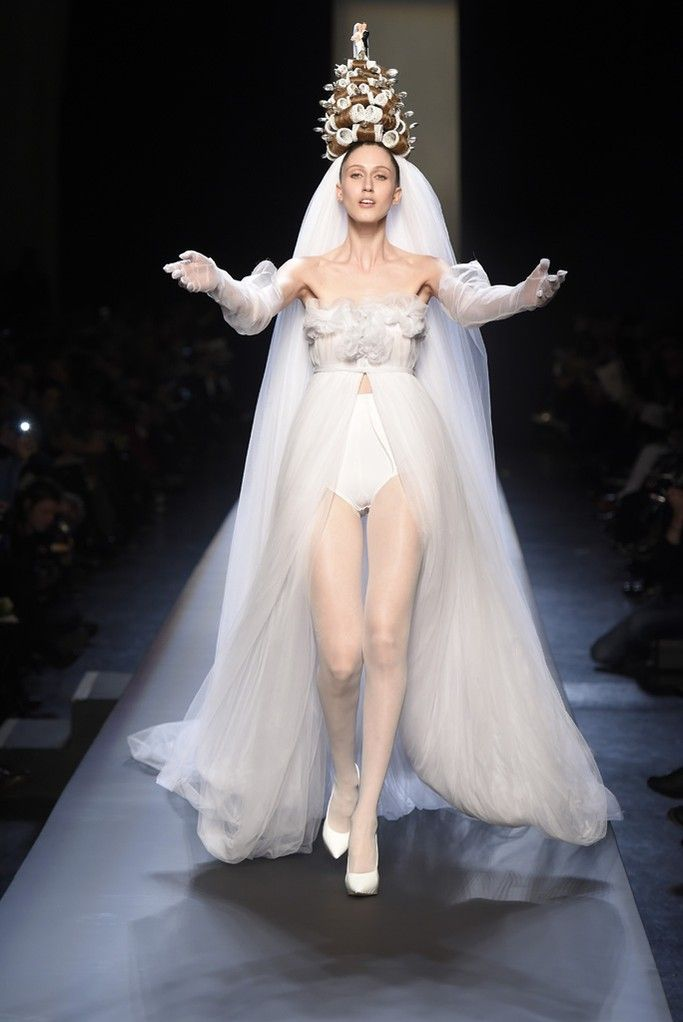 Anna Cleveland at Jean Paul Gaultier