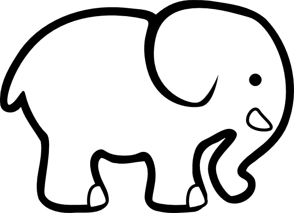 Elephant Cut Out Template Yelomdigitalsiteco - Coloring-pages-elephants