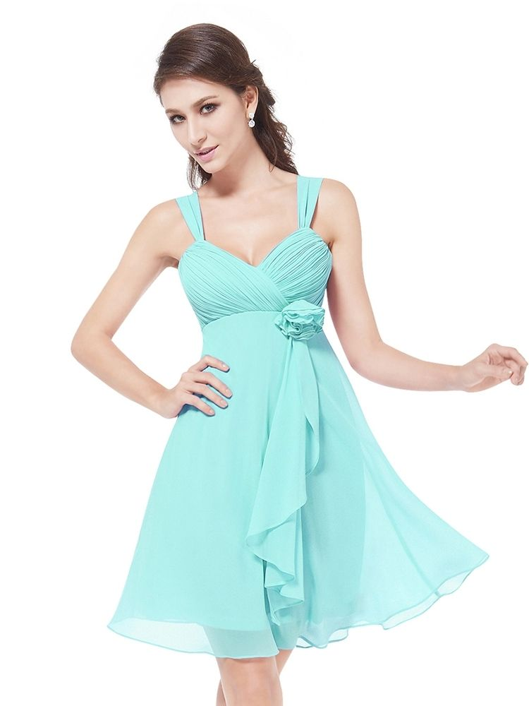 The party dress features with Silk Chiffon Braces . With Korean ...
