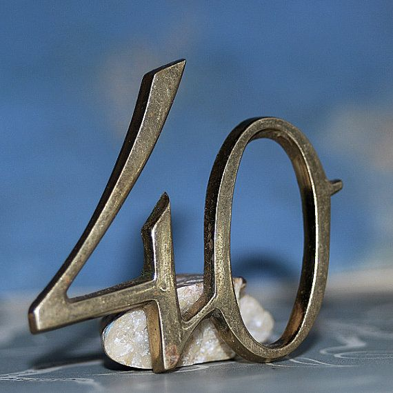 an awesome number 40...    Nov 10 by CoolVintage on Etsy, $12.50