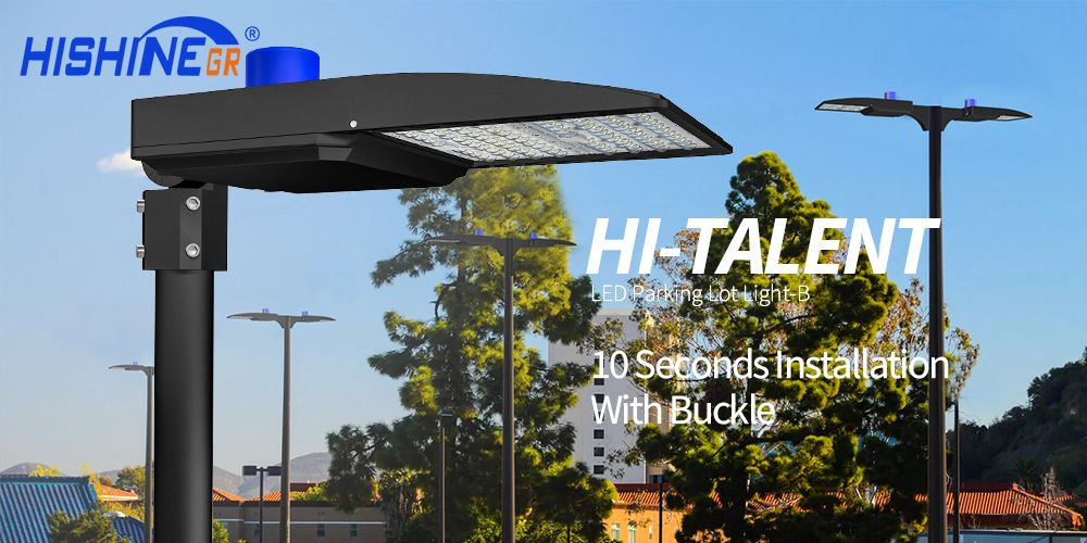 200W Outdoor LED Parking Lot Light Street Pole Fixture Dusk to Dawn Commercial