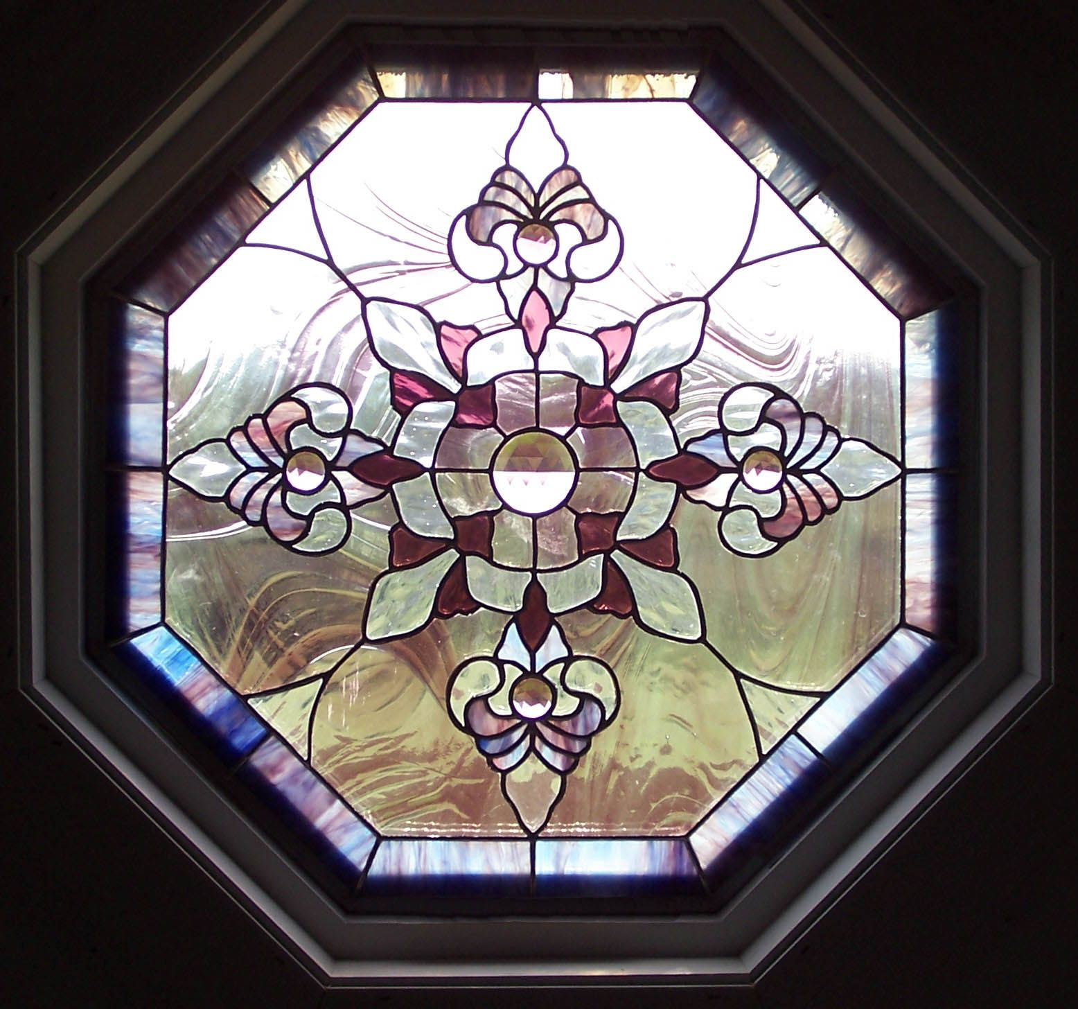 stained glass octagon window inserts | glass carving glass ...