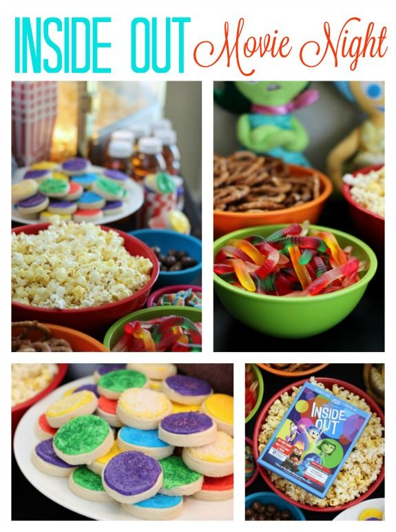 Inside Out Themed Movie Night Disney Movie Night Dinner Movie Night Food Family Movie Night Snacks