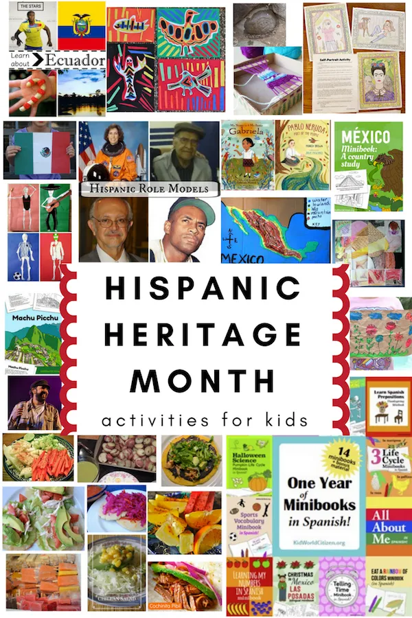 A huge collection of activities for kids to celebrate Hispanic Heritage Month, and learn all about the traditions and cultures of Latin America!