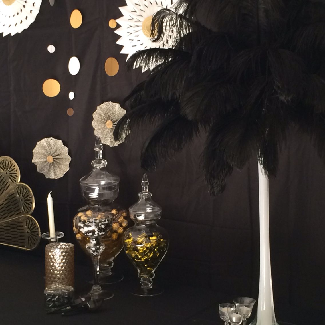 Ostrich feather vases perfect for gatsby parties gatsby ostrich feather vases perfect for gatsby parties reviewsmspy