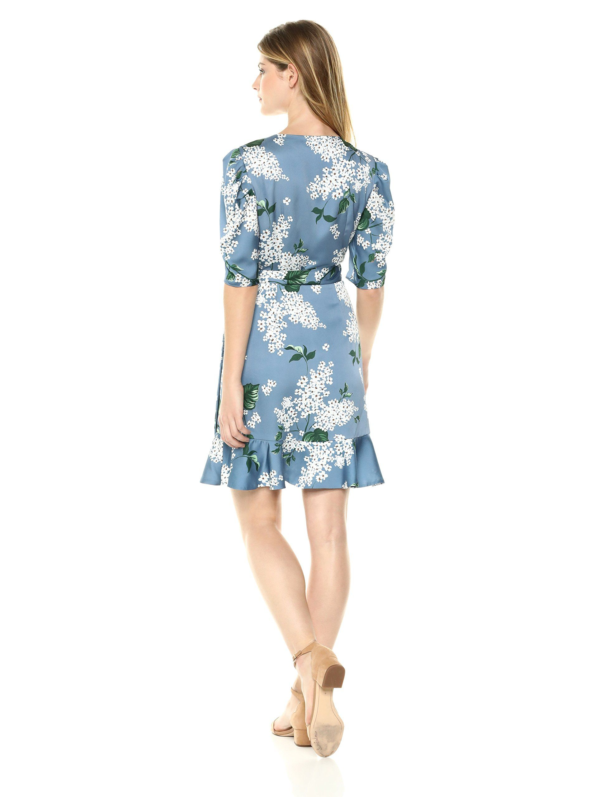 Keepsake The Label Womens This Moment Short Sleeve Ruffle Mini Wrap Dress Dusty Blue Floral Xl Wish To Know More Click T Mini Wrap Dress Wrap Dress Dresses [ 2560 x 1969 Pixel ]