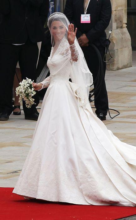 El vestido de novia de Kate Middleton en la Boda Real