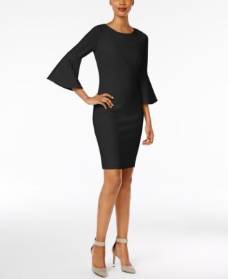 15984ab971c CALVIN KLEIN Calvin Klein Bell-Sleeve Sheath Dress.  calvinklein  cloth    dresses