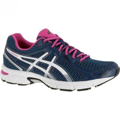 Running_chaussures - chaussures de running femme Asics Gel Stormhawk bleu/ rose