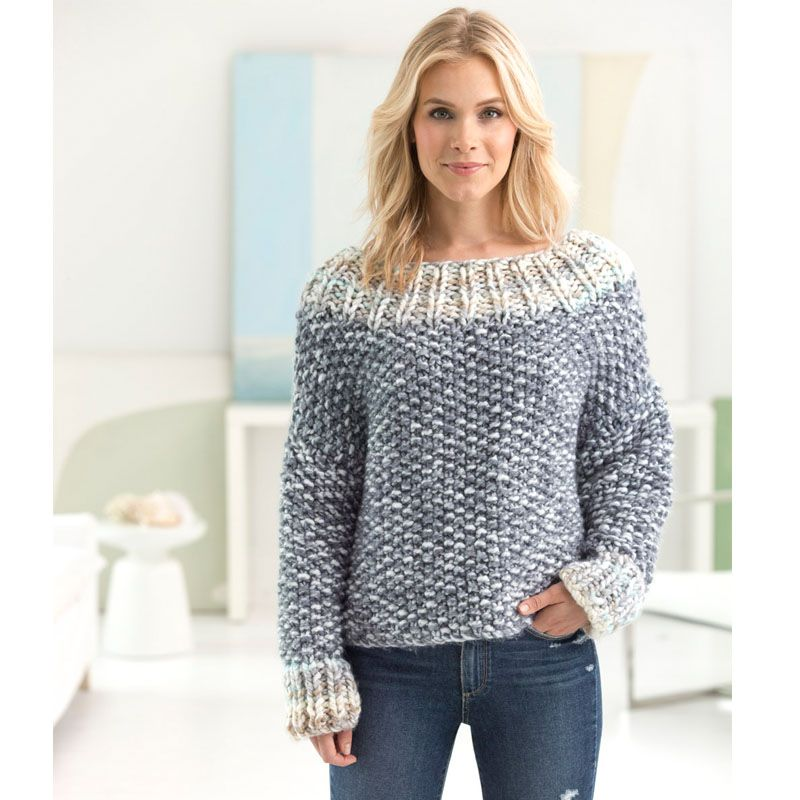 Free knitting patterns - how to knit a sweater - color clouds yarn ...