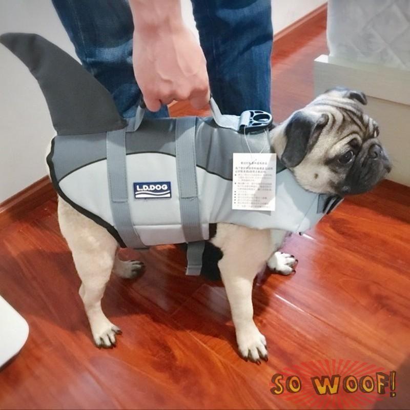 Pets Dogs Cats Swim Suit Life Jacket Grey Shark Style  74d1c9f76