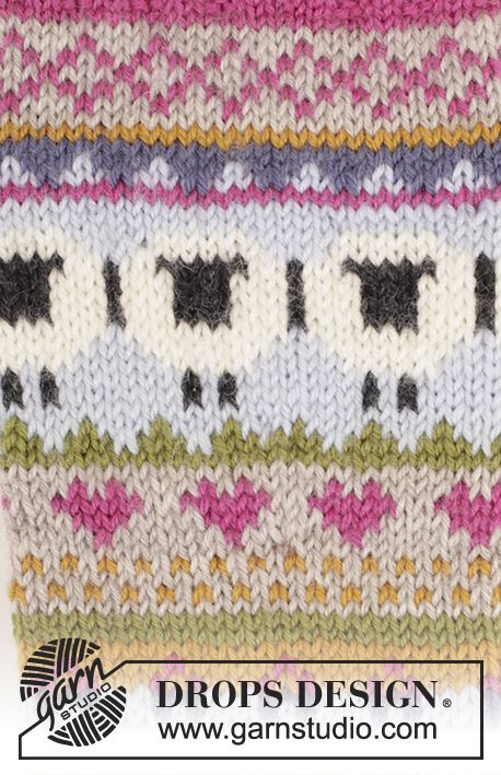 Free Pattern sheep border fair isle | mi bebe | Pinterest | Tejido ...
