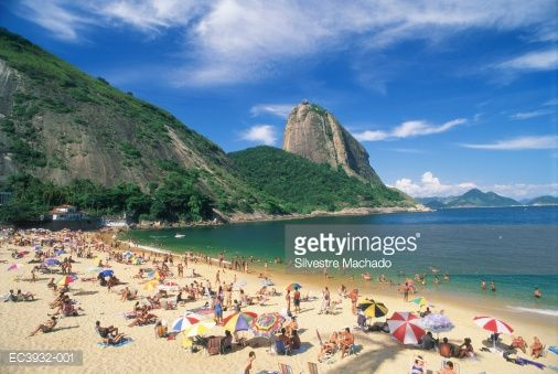 Known locally as Pao de Acucar, Sugarloaf Mountain towers 396 metres above Rio de Janerio.