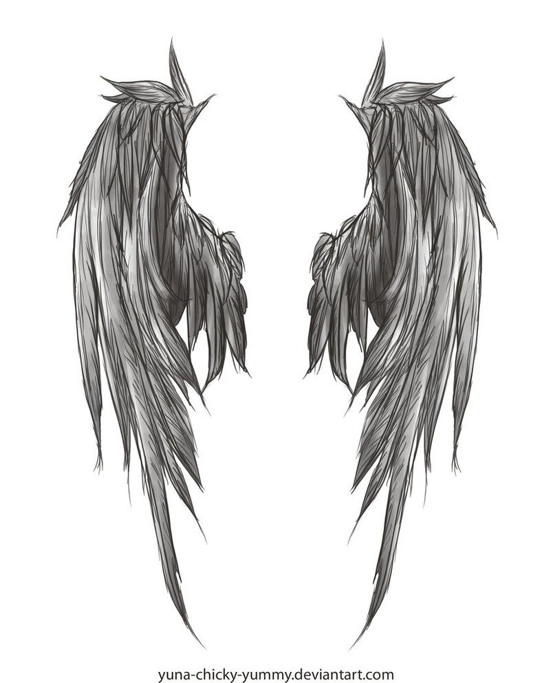 angel wing drawing i found in deviantart i 39 ll probably get this tattooed future tattoos. Black Bedroom Furniture Sets. Home Design Ideas