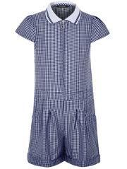 33475d80d1b Girls School Gingham Playsuit – Navy Girls School