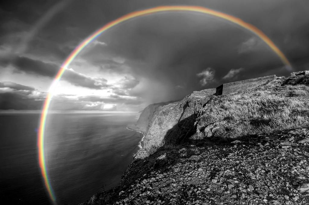 Beautiful Rainbow Black And White Photography With Color