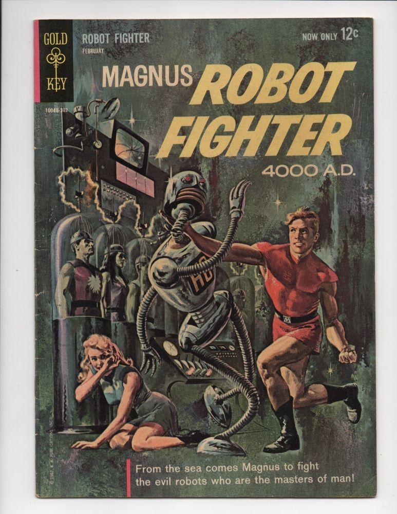 Magnus Robot Fighter 4000 Ad 1 1st Appearance Magnus Gold Key Comics 1963 Fn Vf Comic Book Covers Comic Books Dell Comic