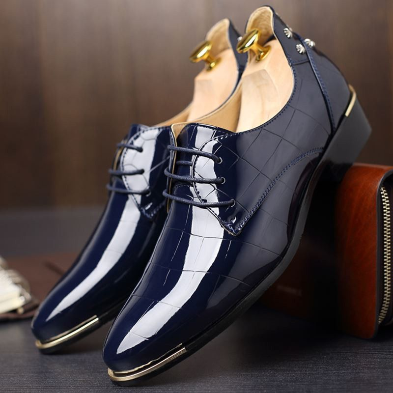 Big Size Men British Style Microfiber Leather Pointed Toe