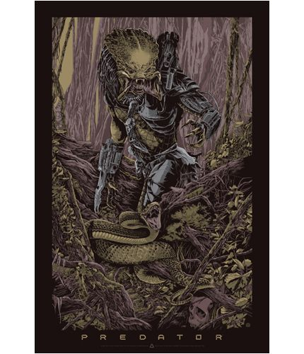 "Predator Poster by Ken Taylor. 24""x36"" screen print. Hand numbered. Signed by Ken Taylor. Edition of 400. Printed by D&L Screenprinting."