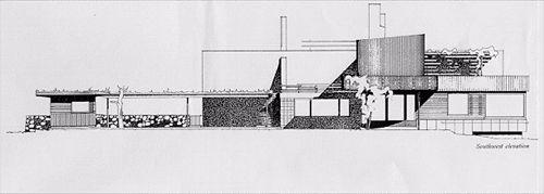 7 villa mairea alvar aalto alzado jpg 500 179 pixels - Alzado arquitectura ...