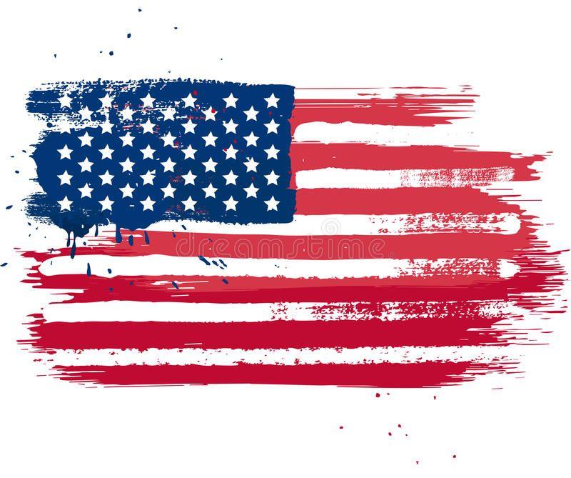 Usa Flag Vector Isolated Usa Flag In Grunge Style Ad Vector Flag Usa Style Grunge Ad In 2020 Flag Vector Vector Art Art
