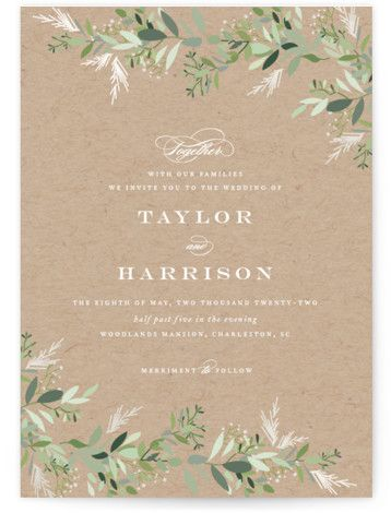Trailing Vine Gloss-Press™ Wedding Invitation...