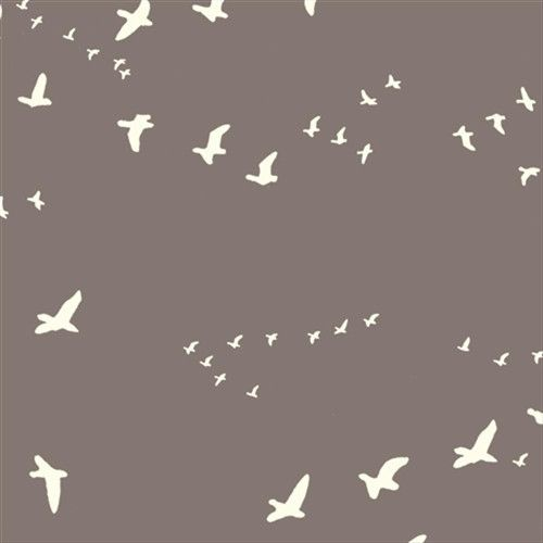 Flight in river rock - voile fabric. Love the subtle colour and birds.