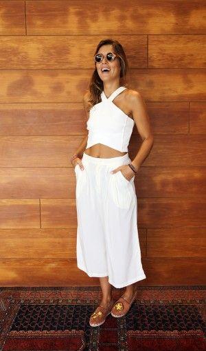 60d7d0b37 CALÇA PANTALONA MIDI OFF WHITE | My fashion | Fashion, Stylish ...