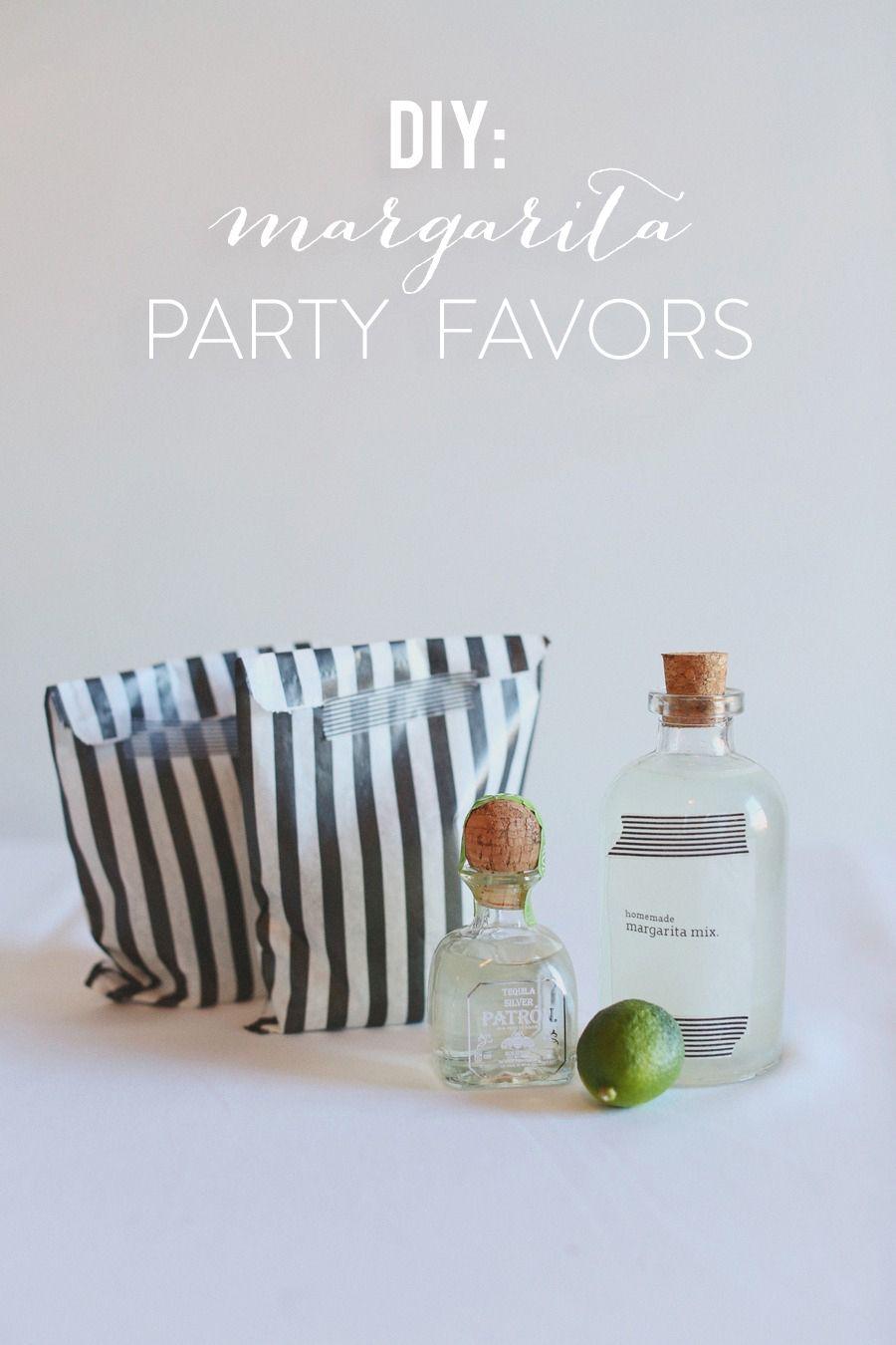 Super Bowl Party DIY Margarita Favors | Margaritas, Favors and ...