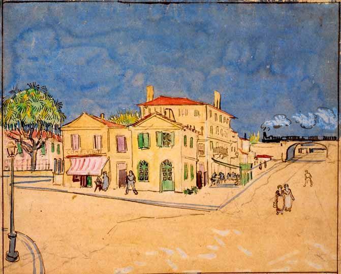 Vincent Van Gogh - Post Impressionism - Arles - La Maison Jaune ...