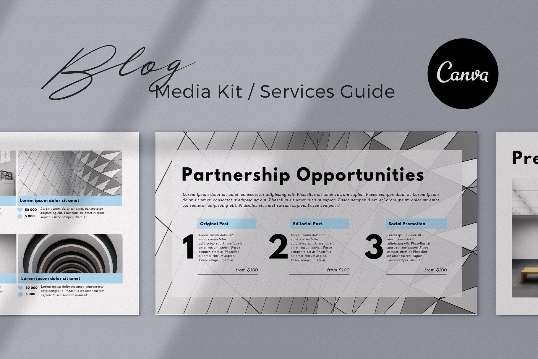 Blogger Media Kit Canva Template Blogger media kit