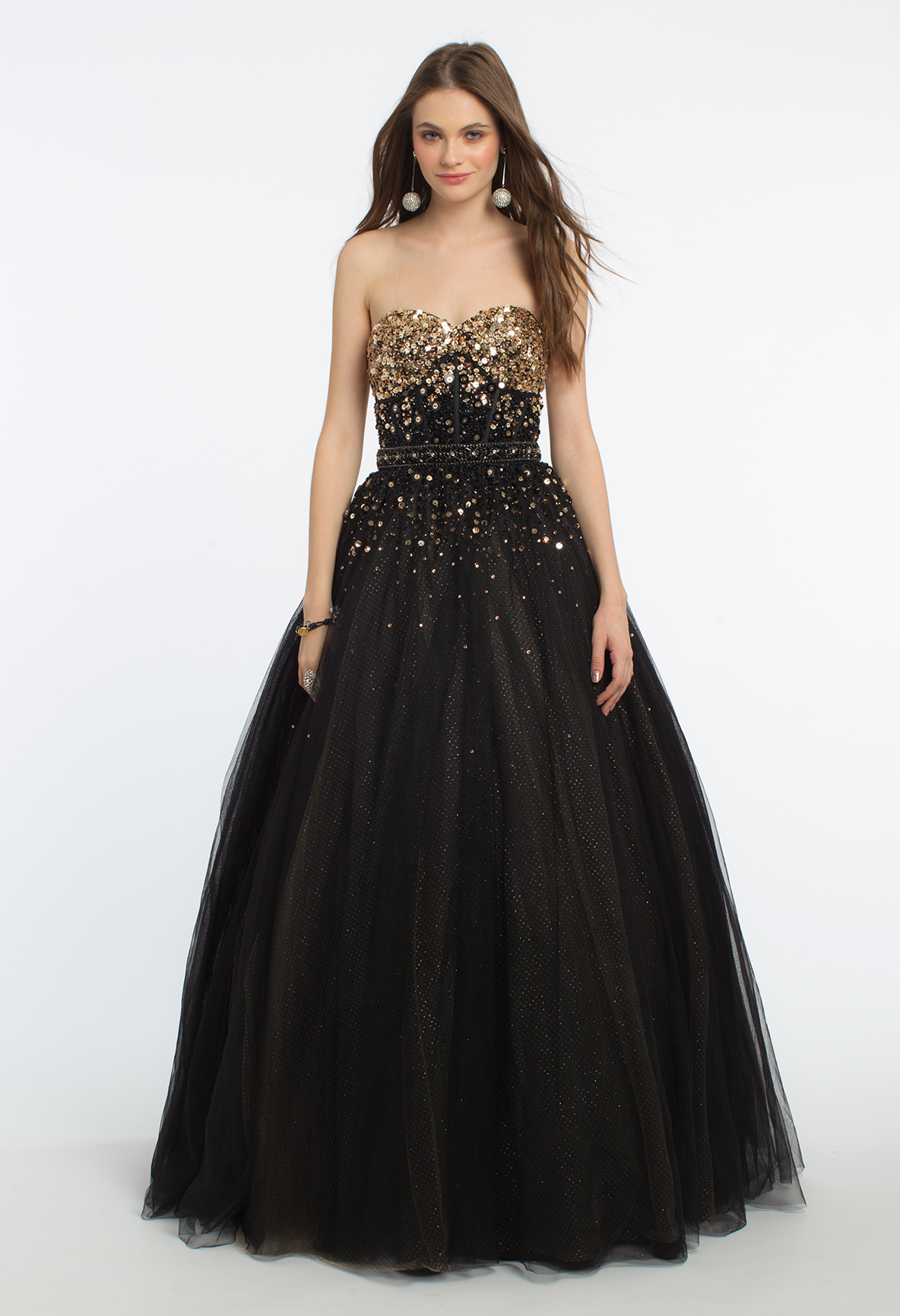 Nothing says princess like this long evening dress with its