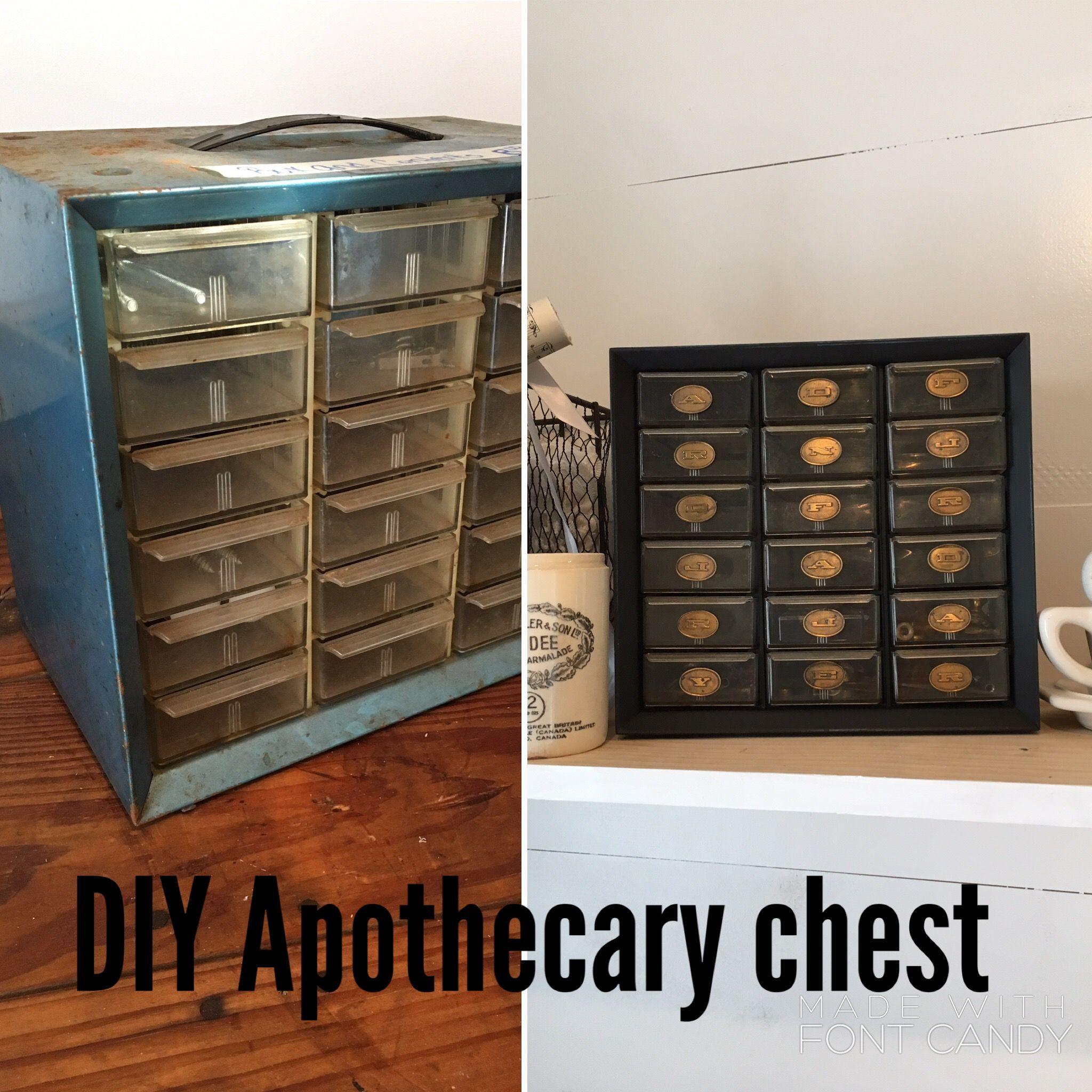 Diy Apothecary Chest Diy Home Furniture Diy Vintage Diy