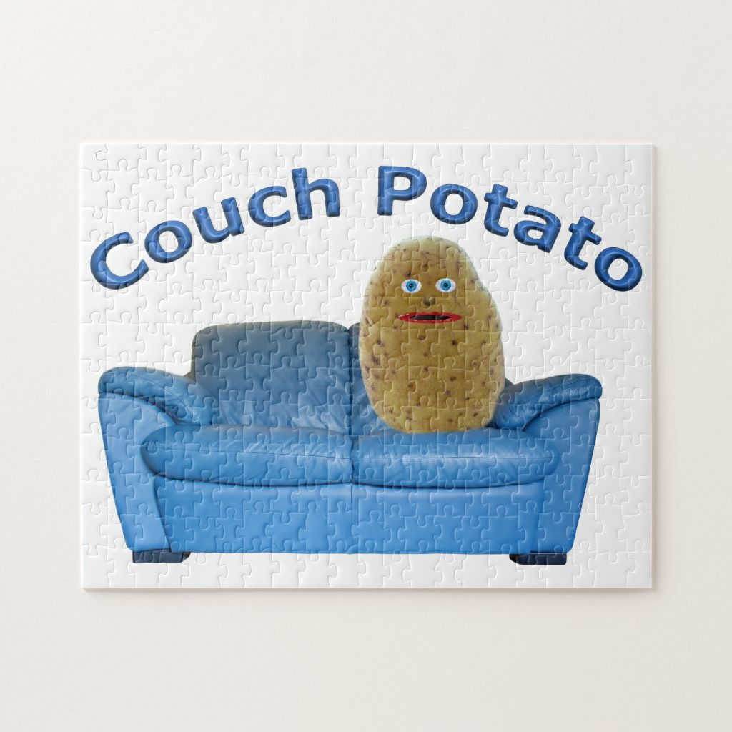 Couch Potato Jigsaw Puzzle Zazzle Com Jigsaw Puzzles Couch Potato Couch Shopping
