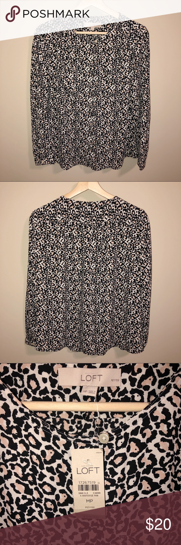 Forever 21 Leopard Print Crew Neck Sweater in TanBlack