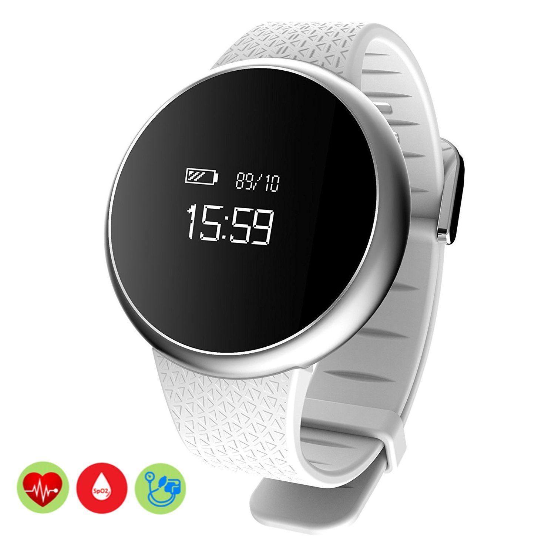 29fca3e8c Bluetooth Bracelet, MOREFINE IP67 Wristband Sport Fitness Activity Tracker  0.66'' OLED Screen Smart