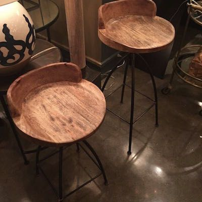 Hinkley Wood and Iron Swivel Barstool from Arteriors Home blends rustic with chic. Natural material. Swivel Counter StoolsBar ... & Hinkley Wood and Iron Swivel Barstool from Arteriors Home blends ... islam-shia.org